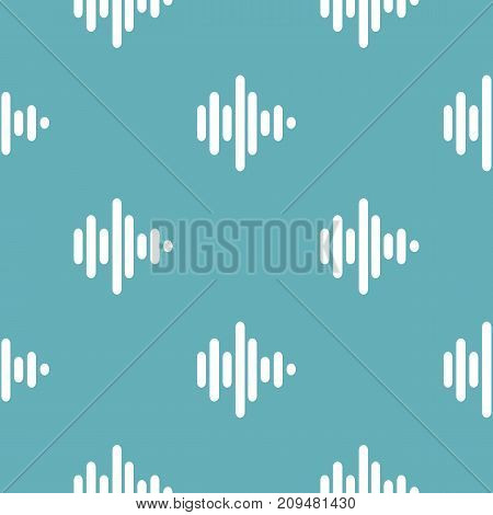 Sound wave pattern seamless blue. Simple illustration of  vector pattern seamless geometric repeat background
