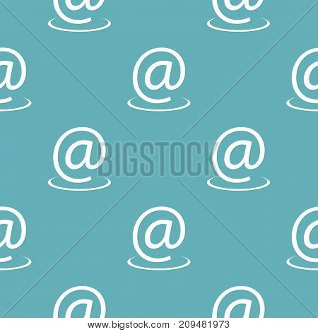 Email address pattern seamless blue. Simple illustration of  vector pattern seamless geometric repeat background