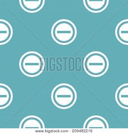 Minus pattern seamless blue. Simple illustration of  vector pattern seamless geometric repeat background