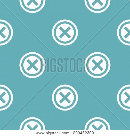 Not pattern seamless blue. Simple illustration of  vector pattern seamless geometric repeat background