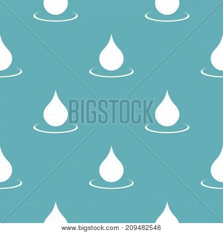 Water drop pattern seamless blue. Simple illustration of  vector pattern seamless geometric repeat background