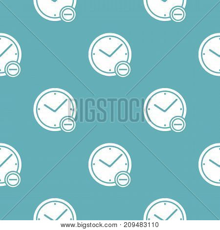 Time minus pattern seamless blue. Simple illustration of  vector pattern seamless geometric repeat background