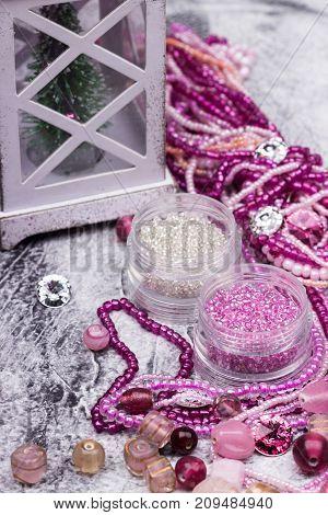 New Year Glass Beads For Handmade