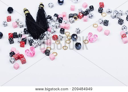 Mix Of Domino Beads