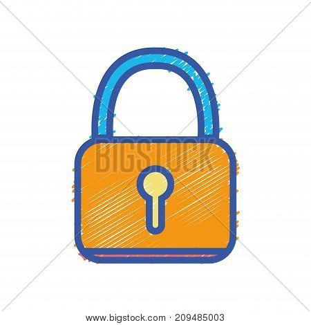 padlock security protection object to privacy information vector illustration