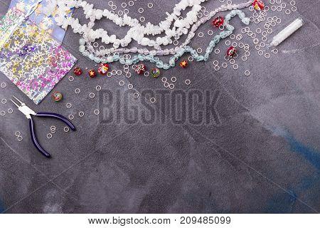 Winter Glass Beads
