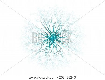 Abstract Science Background And Object. Electrical Discharges On A White Background