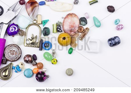 Stone Beads And Metal Components