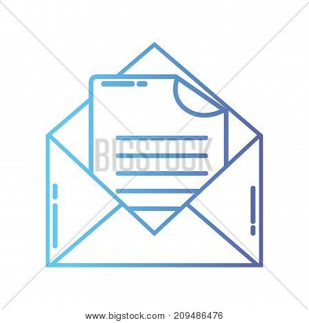 line e-mail message with document information vector illustration