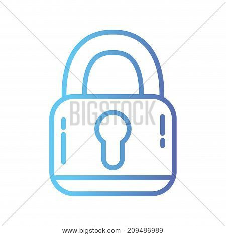 line padlock security protection object to privacy information vector illustration