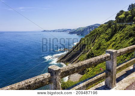 View over the north coast of Spain Basque Country.