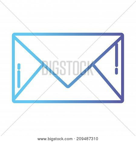 line letter card closed with message information vector illustration