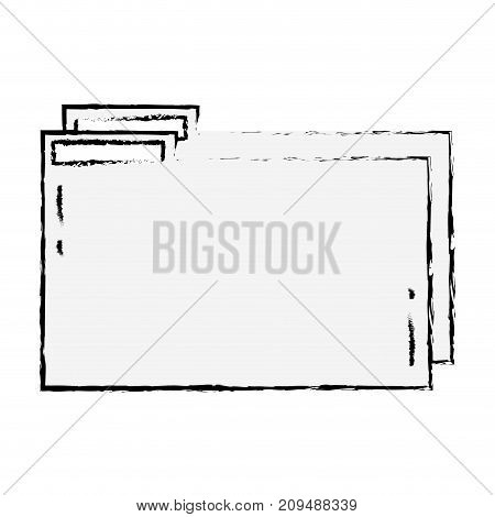 figure folder file to save documents information to archive vector illustration