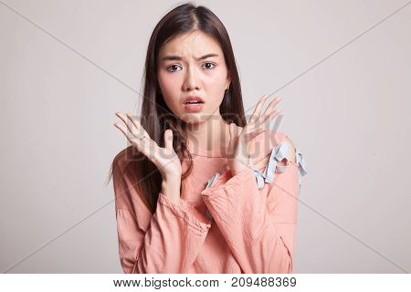 Shocked Young Asian Woman.