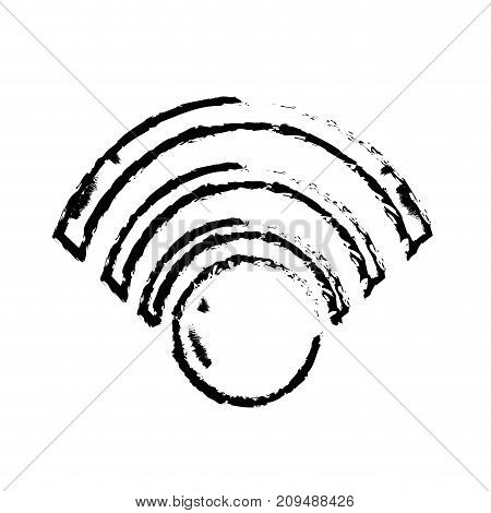 figure wifi symbol to connection in the digital web vector illustration