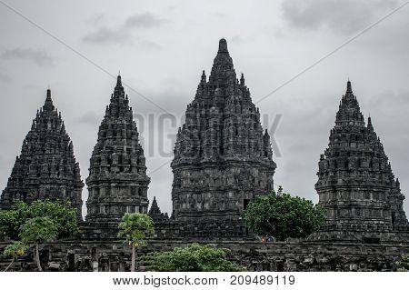 View of the Temple of Candi Prambanan.Prambanan. Indonesia, Yogyakarta