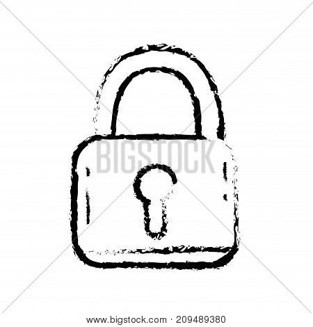 figure padlock security protection object to privacy information vector illustration