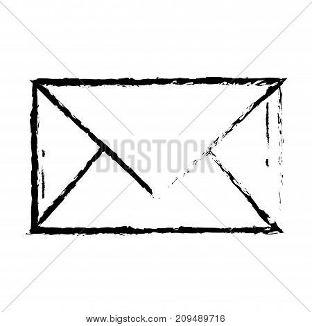 figure letter card closed with message information vector illustration