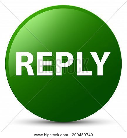 Reply Green Round Button