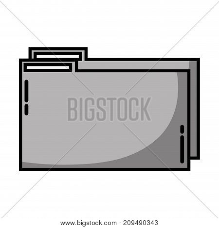 grayscale folder file to save documents information to archive vector illustration