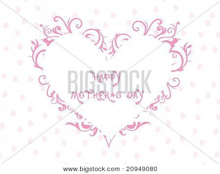 abstract heart pattern card for mother day celebration