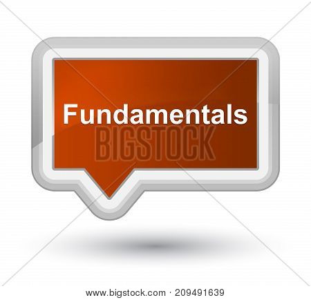 Fundamentals Prime Brown Banner Button