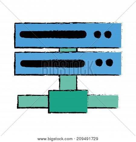 data network swich uplink trunk vector illustration