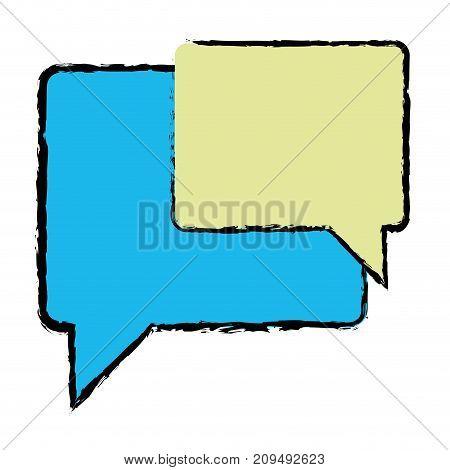 color chat bubbles notes text message vector illustration