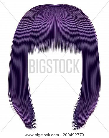 trendy hairs purple colors . kare fringe . beauty fashion