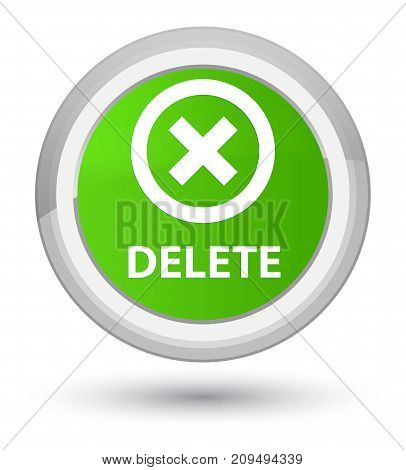 Delete Prime Soft Green Round Button