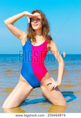 Beach Girl Paradise Portrait
