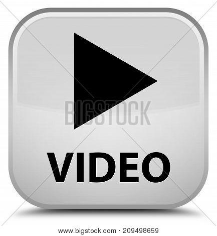 Video Special White Square Button