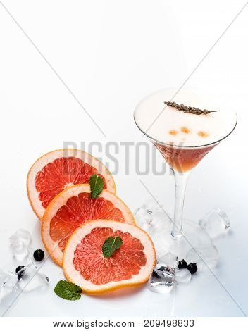 Cocktail Isolated On White Background.