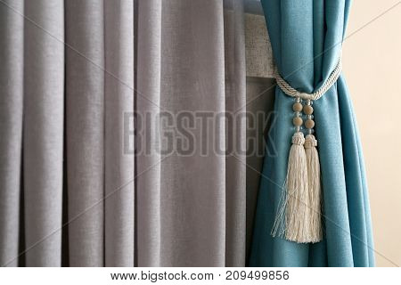 Beautiful colorful curtains in room