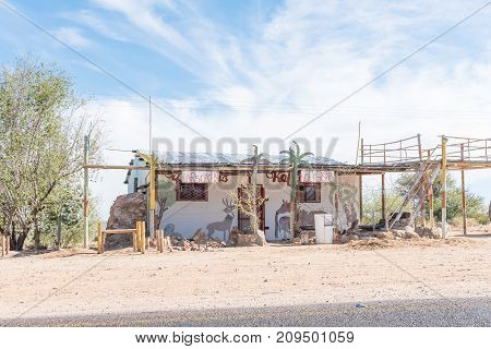 KAKAMAS SOUTH AFRICA - JUNE 12 2017: A road stall near Kakamas in the Northern Cape Province