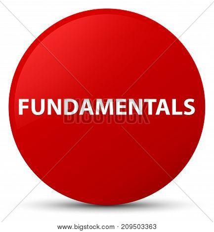 Fundamentals Red Round Button
