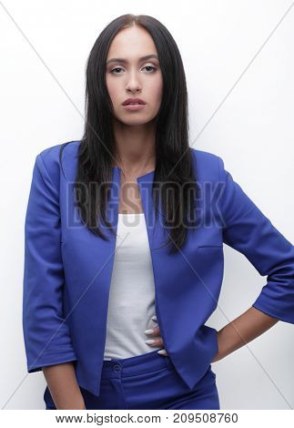 Portrait of a young business woman looking into the camera