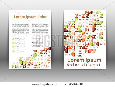Abstract color brochure design with geometric elements