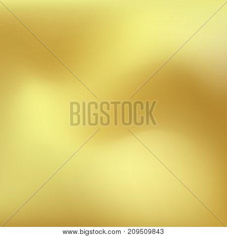 Vector gold gradient texture. Metallic blurred smooth background.