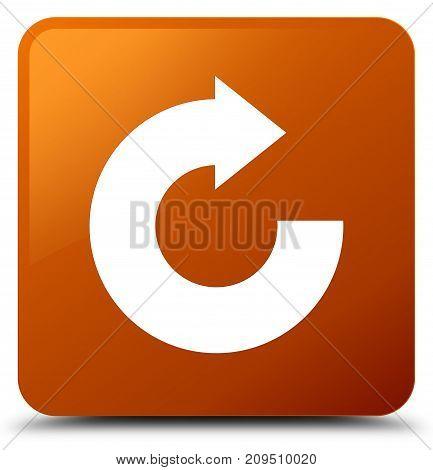 Reply Arrow Icon Brown Square Button