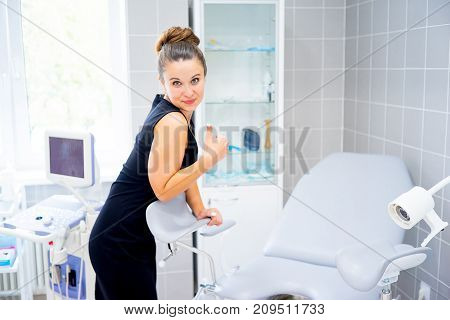 A portrait of people on appointment with doctor