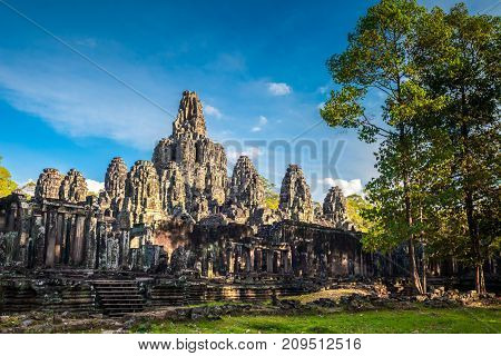 Angkor Wat Temple in Cambodia is the largest religious monument in the world and a World heritage listed complex, inscribed on the UNESCO World Heritage List in 1992. Ancient Khmer architecture