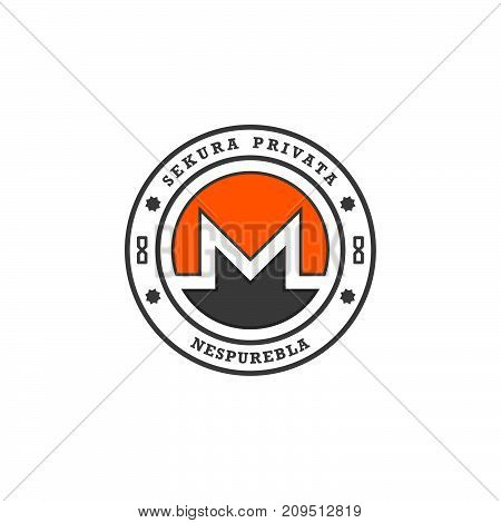 Crypto currency. The coin with the symbol. Metal coin. Vector.