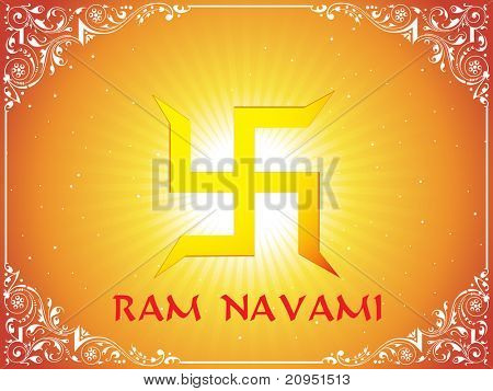 swastika with rays background and artistic border