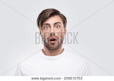 Handsome Shocked Man