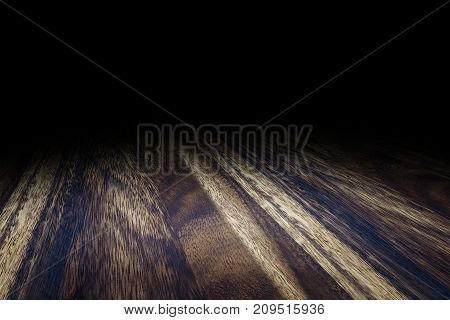 Dark Brown Plank Wood Floor Texture Perspective Background For Display Or Montage Of Product,mock Up