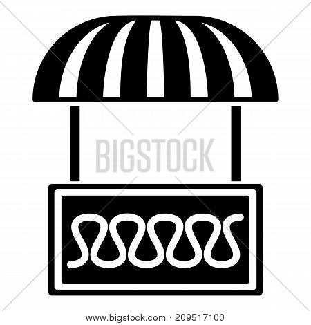 Commercial stall icon. Simple illustration of commercial stall vector icon for web