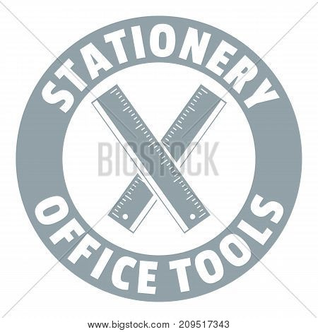 Stationery office tool logo. Simple illustration of stationery office tool vector logo for web