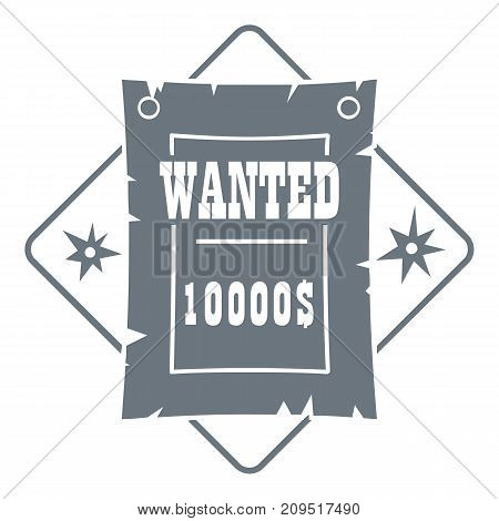 Wanted logo. Vintage illustration of wanted vector logo for web