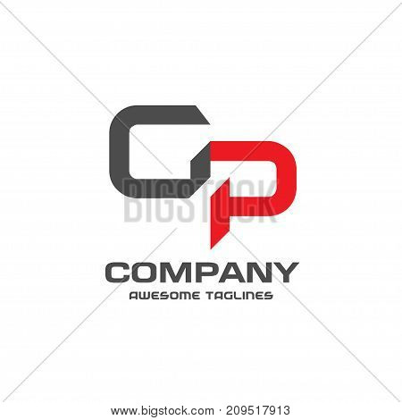 GP letter logo design vector illustration template, G letter logo vector, letter g and P logo vector, creative Letter GP letter logo